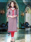 Sahiba06 Grey Color Pakistani Style Cotton Designer Suit