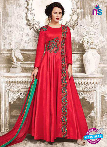 Sajawat 734 Red Anarkali Suit