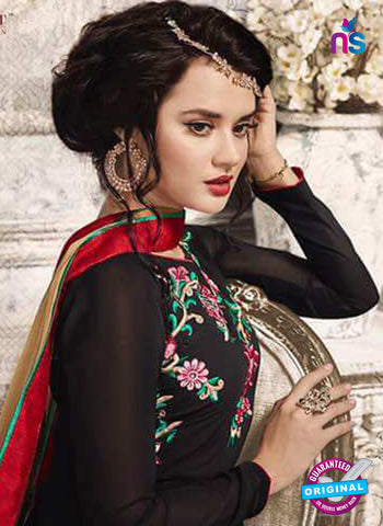 Sajawat 733 Black Anarkali Suit