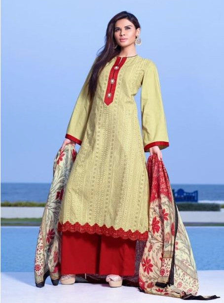 NS11645  Beige Color Pakistani Style Cotton Designer Suit
