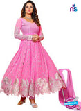 SC 13323 Pink and Silver Anarkali Suit