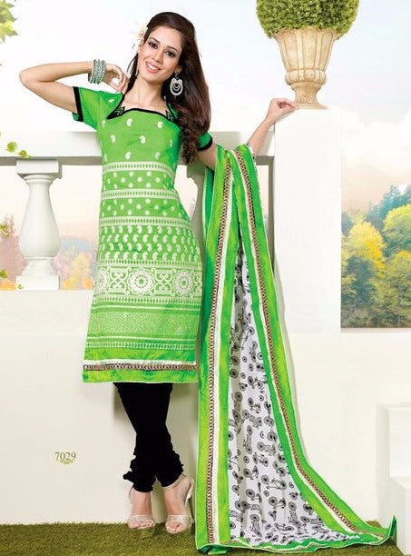 Simaya7029  Green Color Pakistani Style Fine Royal Linen Cotton Designer Suit