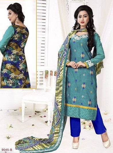 NS11731 Blue Color Pashmina Designer Suit