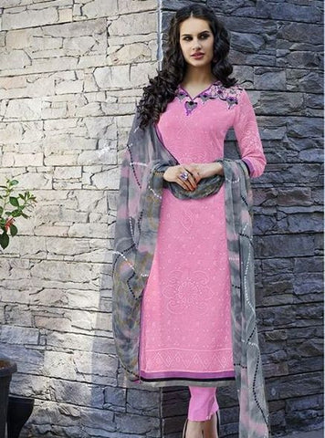 Teazle 1104 Pink Color Kota Doria Long Designer Suit