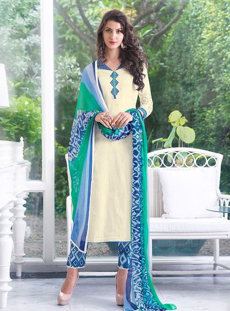 Teazle 1206 White Color Georgette Designer Suit