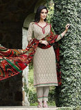 Teazle 1407 Grey Color Designer Kota Doria Cotton Sui