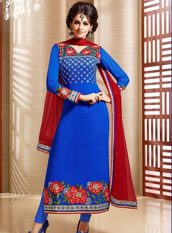 Teazle 1605 Blue Color Georgette Designer Suit