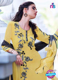 Teazle 2202 Yellow and Black Embroiderd Georgette Designer Suit