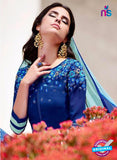 Teazle 2205 Blue Embroiderd Georgette Designer Suit