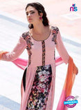 Teazle 2208 Pink and Black Embroiderd Georgette Designer Suit