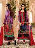 NS11814  Multi Color Georgette Long Designer Suit