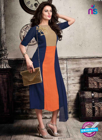 VD 133 Blue Georgette Tunic