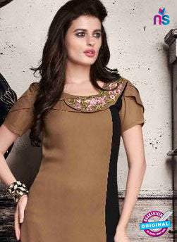 VD 139 Brown Georgette Kurti
