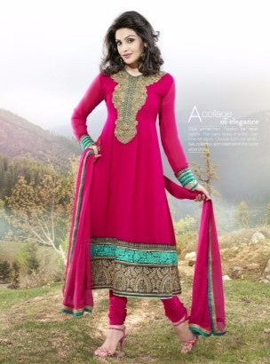 Vinay Fashion 1108 Pink Georgette Designer Suit