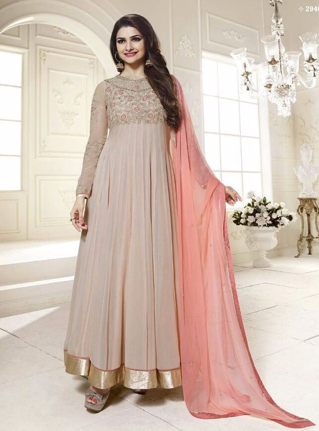 Vinay Fashion 2946 Grey Color Georgette Designer Anarkali Suit