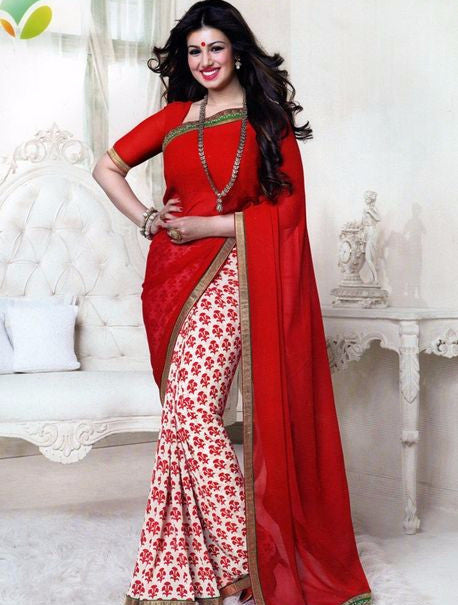 Vinay Fashion 16082 Red Color Georgette Printed Saree