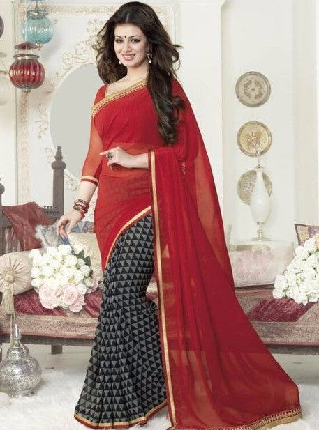 Vinay Fashion 16264 Red Color Georgette Printed Saree