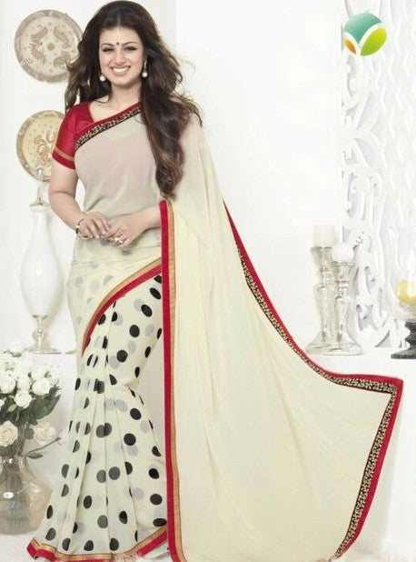 Vinay Fashion 16265 White Color Georgette Printed Saree