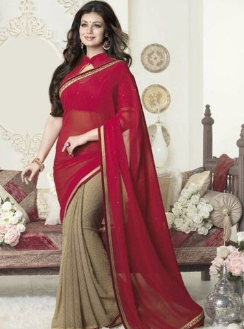Vinay Fashion 16266 Red Color Georgette Printed Saree