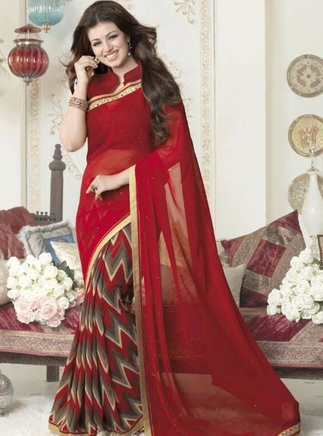 Vinay Fashion 16268 Red Color Georgette Printed Saree