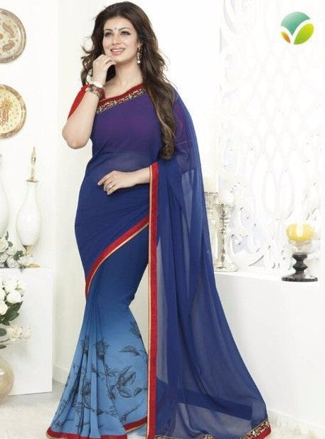 Vinay Fashion 16269 Blue Color Georgette Printed Saree