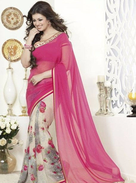 Vinay Fashion 16270 Pink Color Georgette Printed Saree