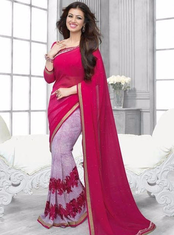 Vinay Fashion 16443 Pink Color Georgette Printed Saree