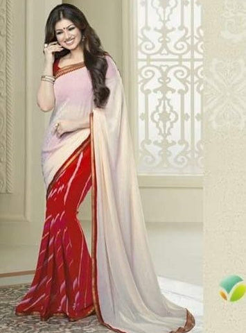 Vinay Fashion 16627 Beige Color Georgette Printed Saree
