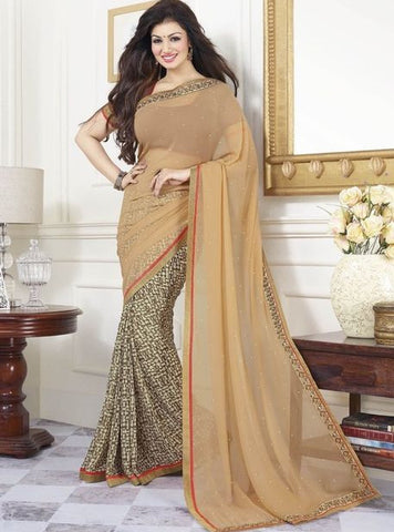 Vinay Fashion 16807 Brown Color Georgette Saree Designer