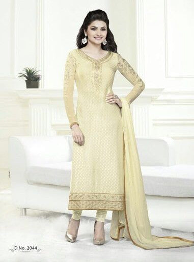 Vinay Fashion 2044 Yellow Color Georgette Designer Suit