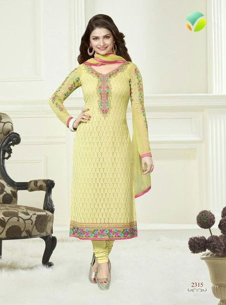 Vinay Fashion 2315 Yellow Color Georgette Long Designer Suit