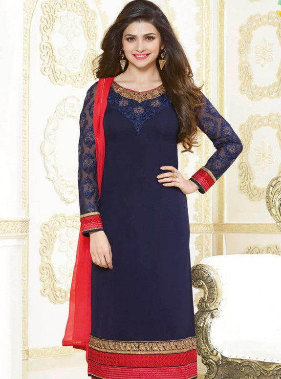 Vinay Fashion 2677 Blue Color Georgette Long Designer Suit