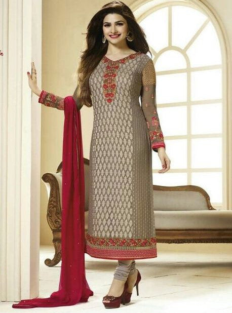 Vinay Fashion 2764 Grey Color Georgette Long Designer Suit
