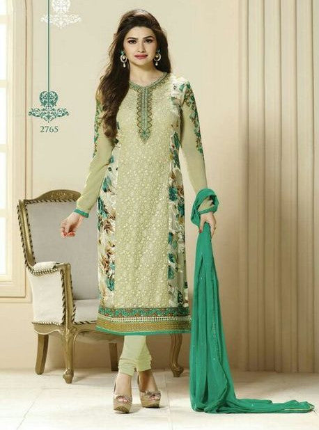 Vinay Fashion 2765 Green Color Georgette Long Designer Suit