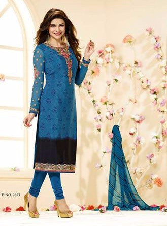 Vinay Fashion 2853 Blue Color Crepe Designer Suit
