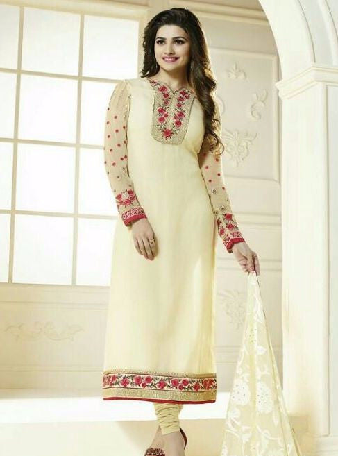 Vinay Fashion 3032 Yellow Color Georgette Long Designer Suit