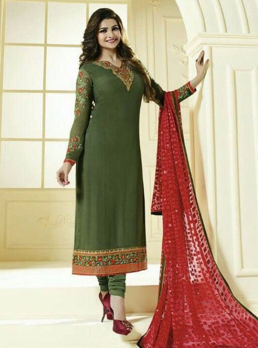 Vinay Fashion 3037 Green Color Georgette Long Designer Suit