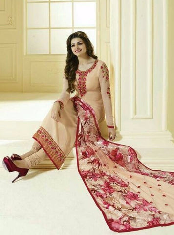 Vinay Fashion 3038 Peach Color Georgette Long Designer Suit