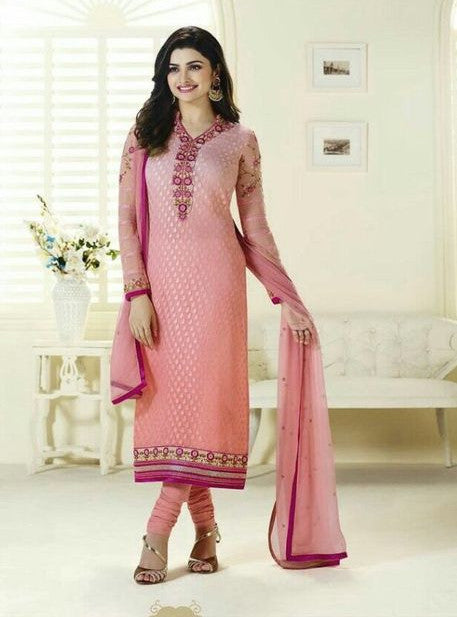Vinay Fashion 3121 Pink Color Brasso Long Designer Suit