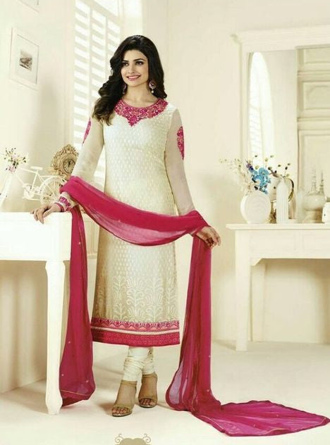 Vinay Fashion 3123 White Color Brasso Long Designer Suit