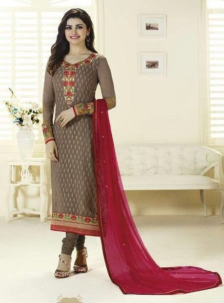 Vinay Fashion 3126 Grey Color Brasso Long Designer Suit