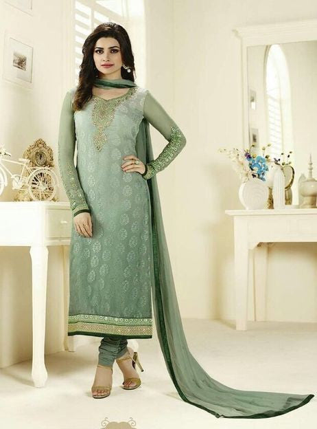 Vinay Fashion 3127 Green Color Brasso Long Designer Suit