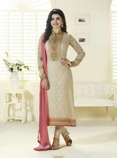 Vinay Fashion 3128 Beige Color Brasso Long Designer Suit