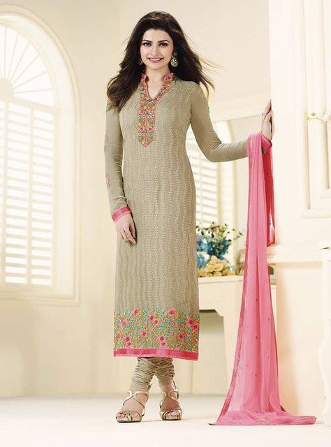 Vinay Fashion 3212 Grey Color Georgette Long Designer Suit