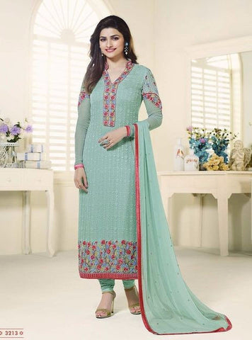 Vinay Fashion 3213 Blue Color Georgette Long Designer Suit