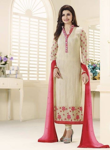 Vinay Fashion 3214 Beige Color Georgette Long Designer Suit