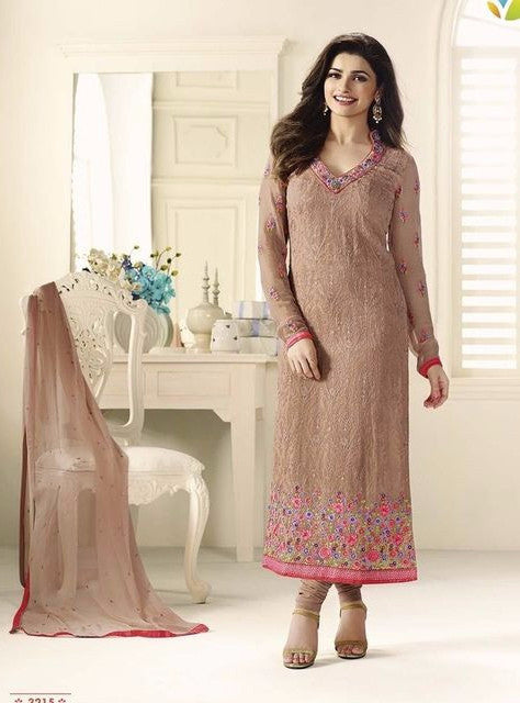 Vinay Fashion 3215 Brown Color Georgette Long Designer Suit