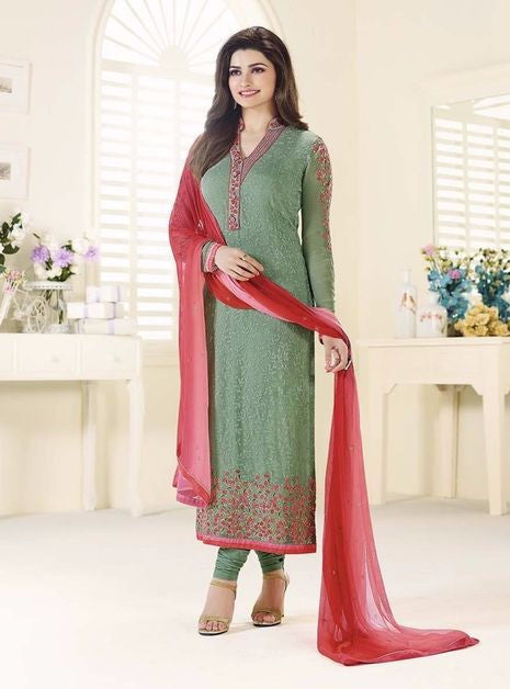 Vinay Fashion 3216 Green Color Georgette Long Designer Suit