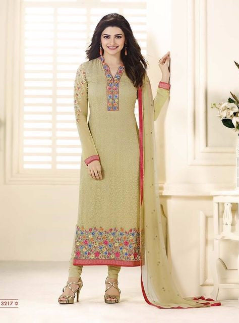 Vinay Fashion 3217 Yellow Color Georgette Long Designer Suit