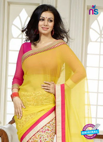 Vinay Fashion 15541 Yellow and Multicolor Georgette Saree